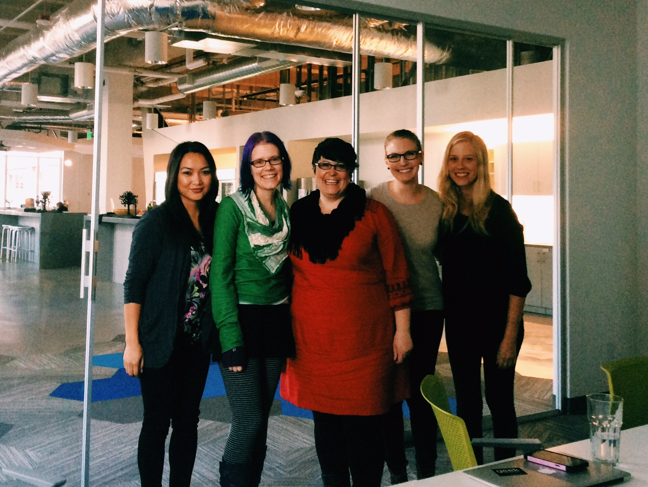 Moz community team (from left to right): Charlene Inoncillo, Erica McGillivray, Jennifer Sable Lopez, Danie Launders, Megan Singley [not pictured: Keri Morgret]