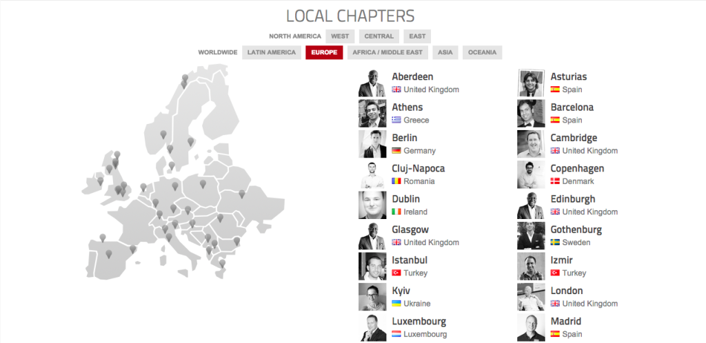 Startup Grinds All Over Europe Today