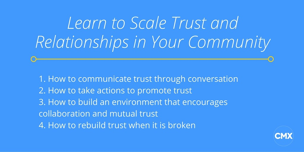Learn to Scale Trust and Relationships in Your Community