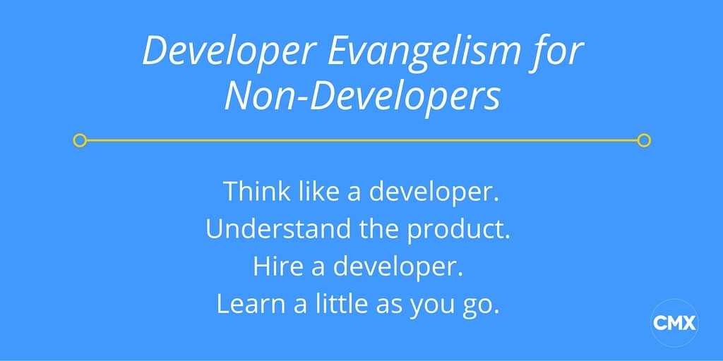 Developer Evangelism Non Developers