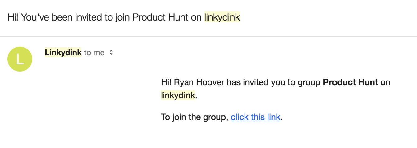 Product Hunt Linky Dink